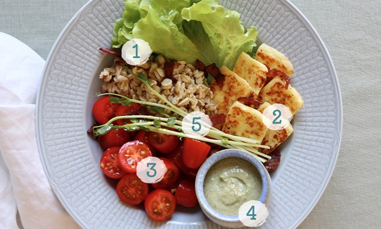5 simple steps - make a hearty sallad!